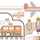 Travel and Transport Illustration