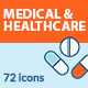 Set of Flat Line Icons on Medicine Theme - GraphicRiver Item for Sale