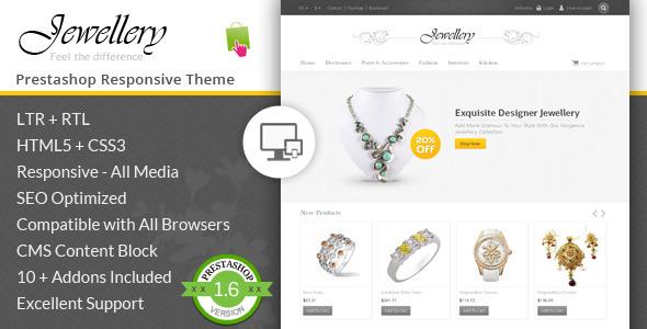 Jewellery - Prestashop Responsive Template