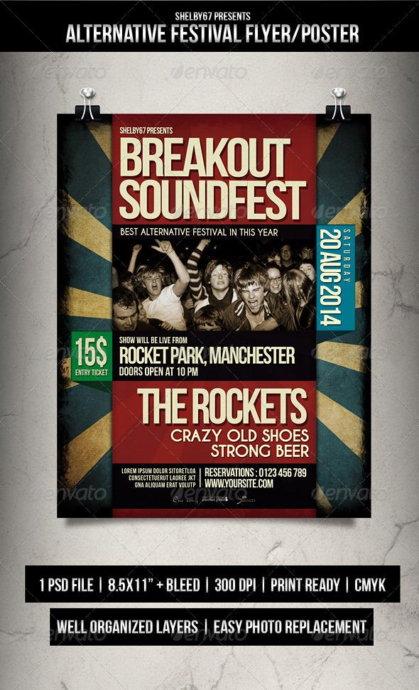 Alternative Festival Flyer / Poster - Events Flyers