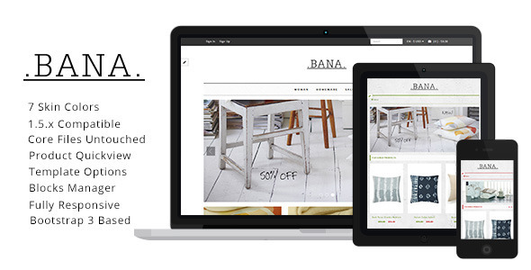 Bana - Responsive Zen Cart Template