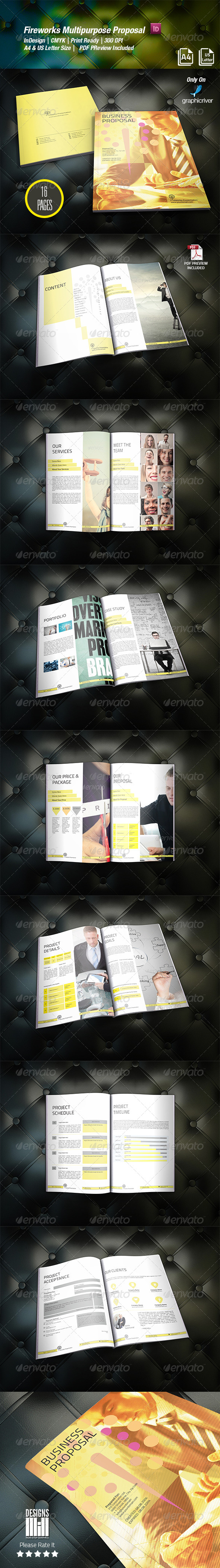 Fireworks Multipurpose Proposal  - Proposals & Invoices Stationery