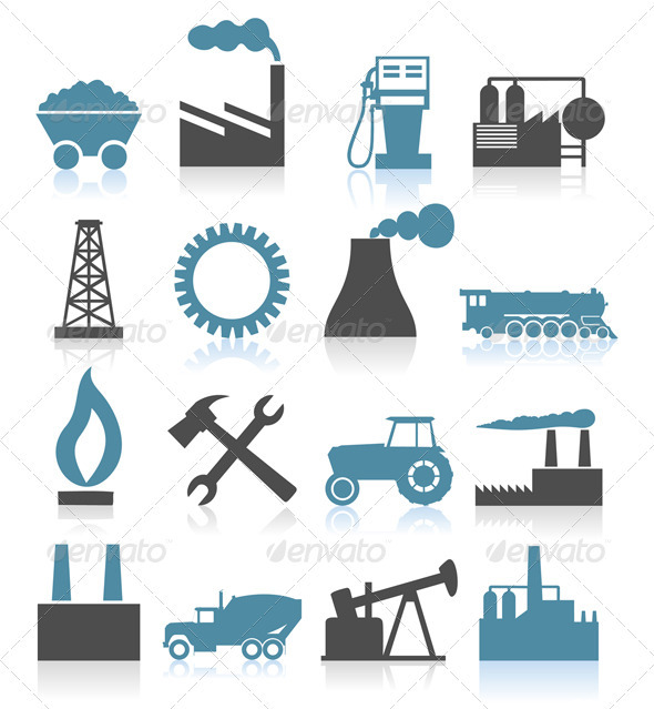 Industrial icons5 - Miscellaneous Vectors
