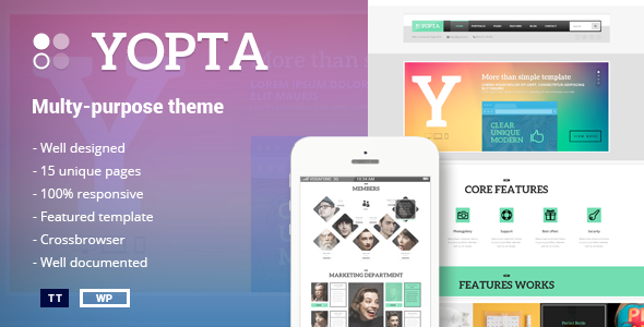 Yopta - Multi-Purpose WordPress Theme - WordPress