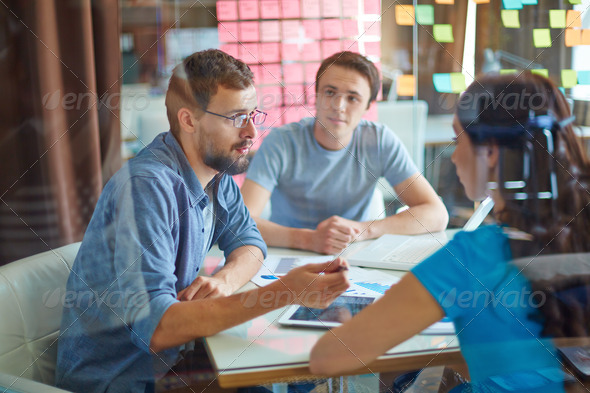 Business conversation - Stock Photo - Images