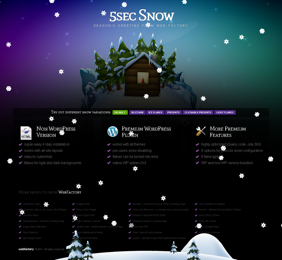 5sec snow by webfactory codecanyonfo1 snow screen png