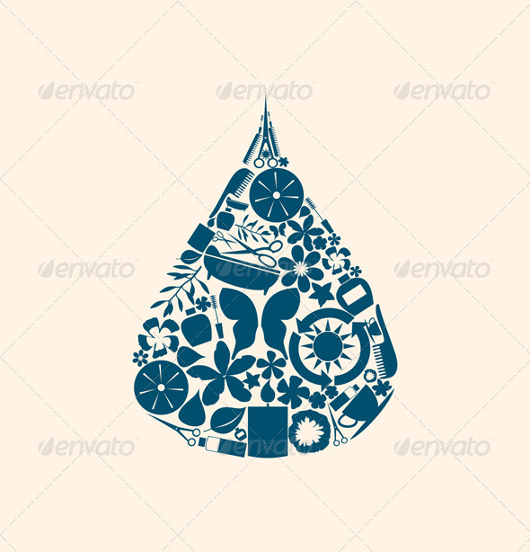 Spa a Drop - Miscellaneous Vectors