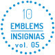 Modern Emblems-Insignias vol 05 - GraphicRiver Item for Sale