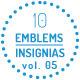 Modern Emblems-Insignias vol 05 - GraphicRiver Item for Sale