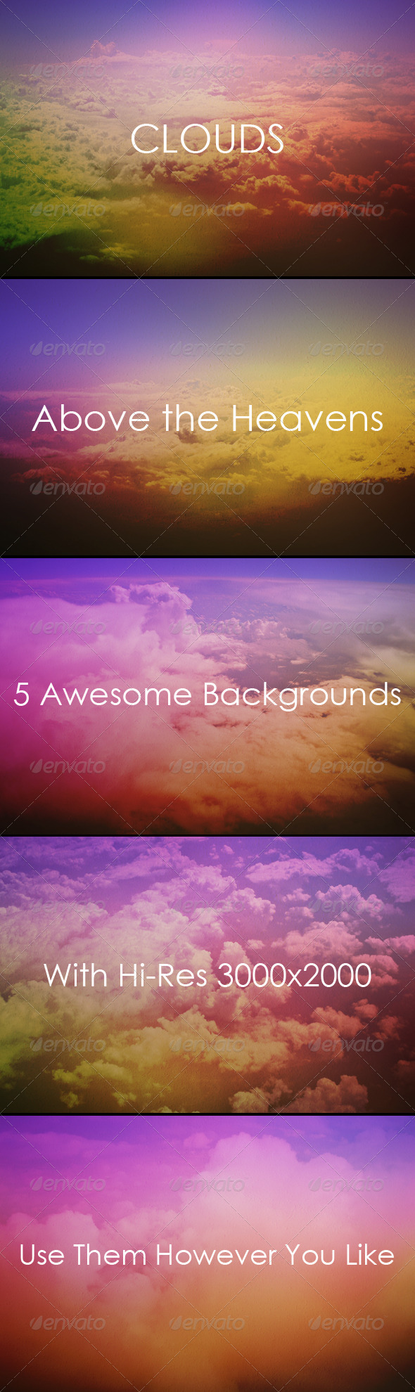 Clouds - Above the Sky Backgrounds - Nature Backgrounds