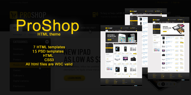 Free Download Pro Shop - HTML Theme Nulled Latest Version