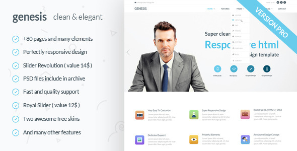GenesisPro - Responsive HTML5 Template - Corporate Site Templates