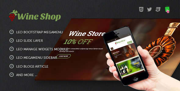 Leo Wine Store Theme for Drink|  Alcohol| Wine| Liquor| Booze| Liqueur| Beer