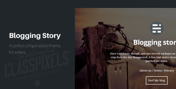 Blogging story HTML5 Blog template
