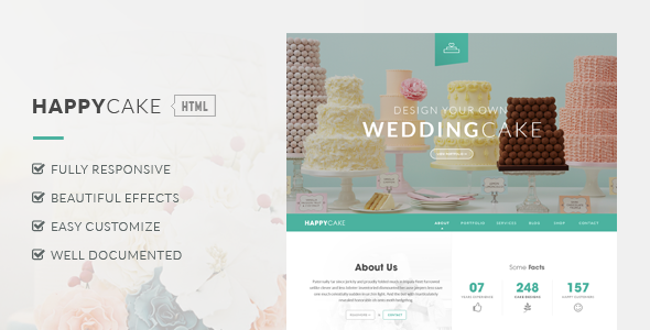 HappyCake – Onepage Business HTML