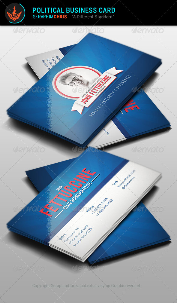 Political Business Card Template by SeraphimChris   GraphicRiver