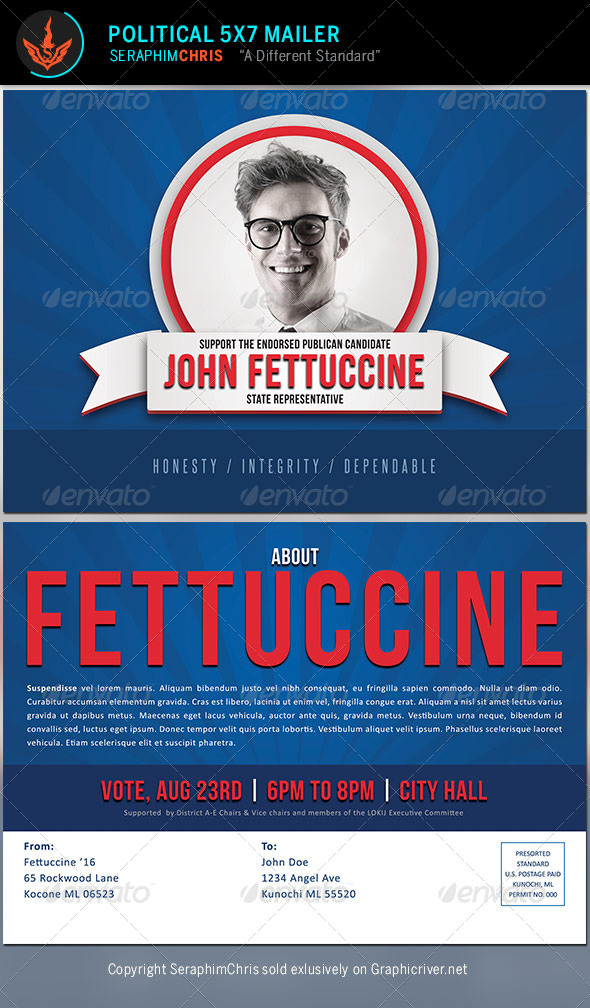 Political Mailer Template by SeraphimChris – Political Flyer Template