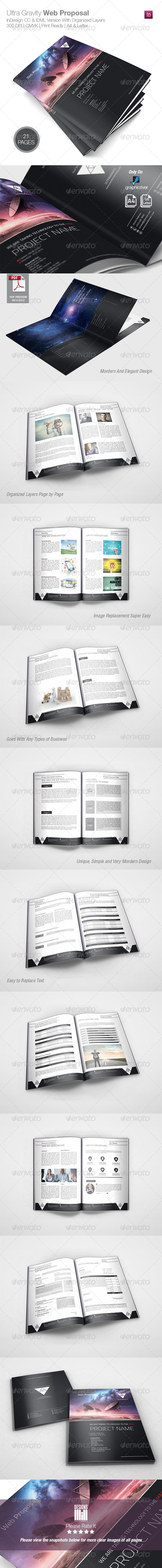 Ultra Gravity Web Proposal - Proposals & Invoices Stationery