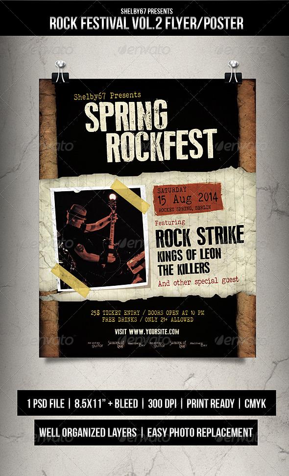 Rock Festival Flyer / Poster Vol 2 - Concerts Events