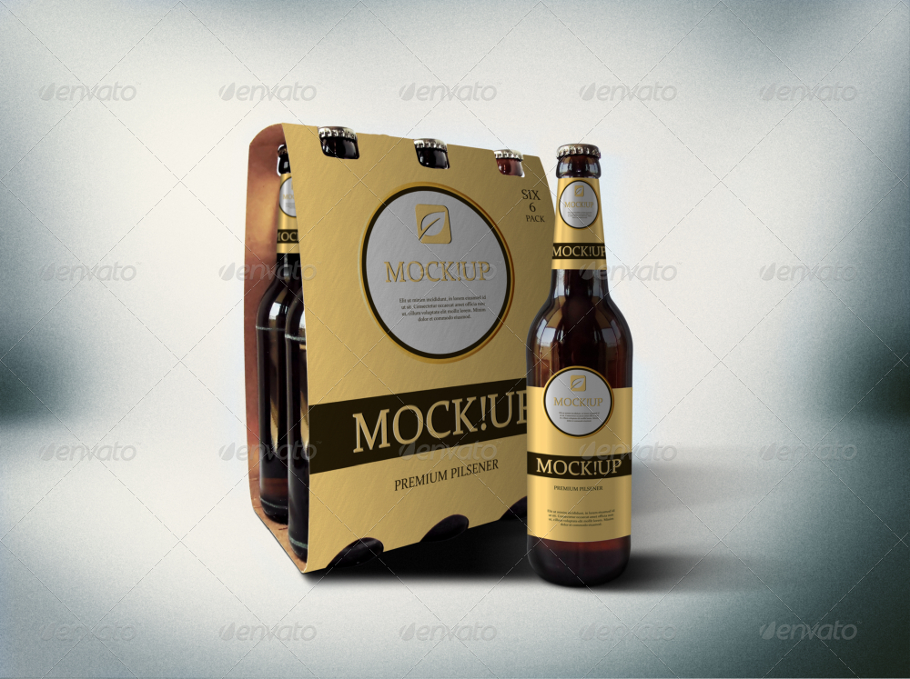 6 Pack Beer Mockup By Fusionhorn Graphicriver