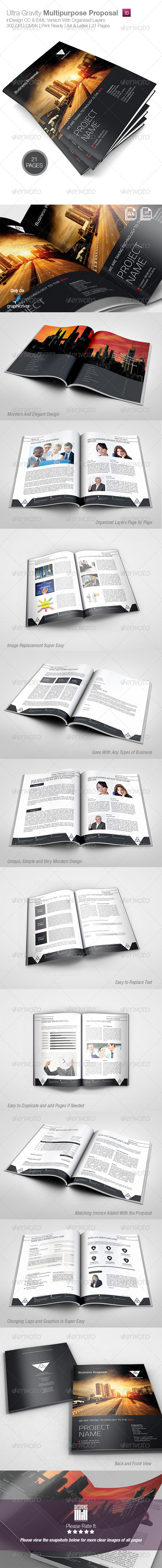 Ultra Gravity Multipurpose Proposal - Proposals & Invoices Stationery