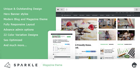 Image of Sparkle - Responsive News/Magazine Drupal theme