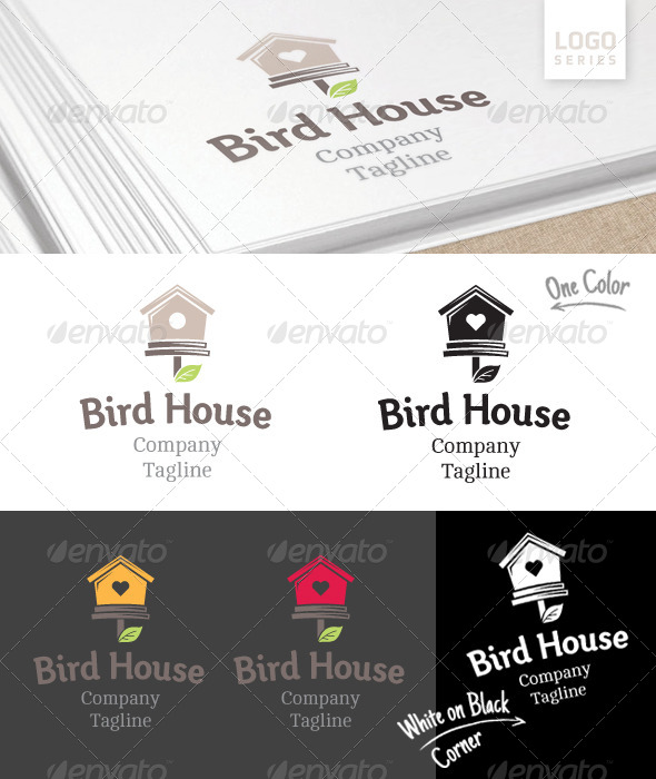 Bird House Logo - Objects Logo Templates