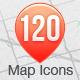 120 Map Icons Collection - GraphicRiver Item for Sale