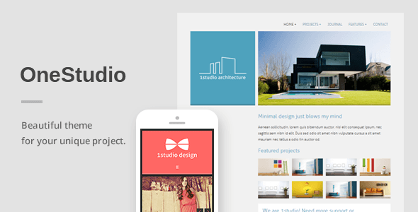 OneStudio – A Unique Responsive WordPress Theme