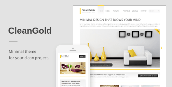 CleanGold – A Minimal Responsive WordPress Theme