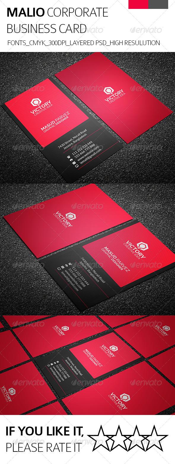 Malio & Corporate Business Card - Corporate Business Cards