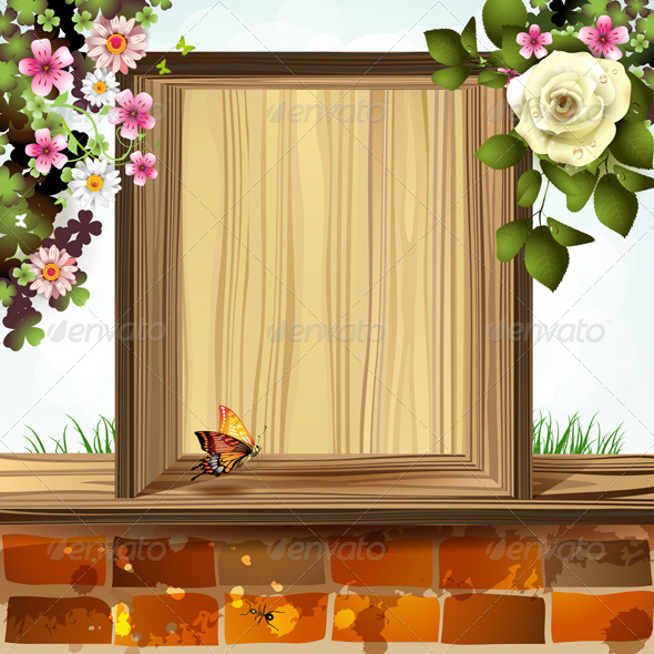 Window Frame with Flowers - Flowers & Plants Nature