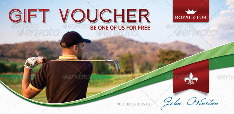 Golf Gift Voucher Template 02 By 21min Graphicriver