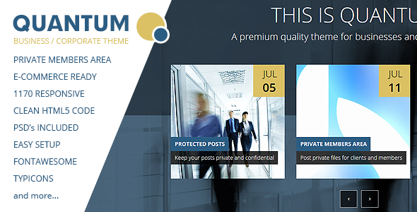 QUANTUM – Responsive Business Template