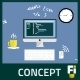 Flat Web Developer Concept - GraphicRiver Item for Sale