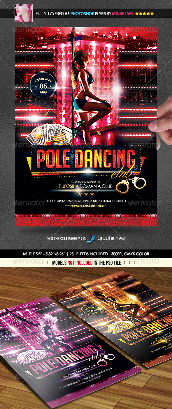 Pole Dancing Poster/Flyer - Events Flyers