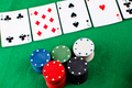 Poker party on a green mat - PhotoDune Item for Sale