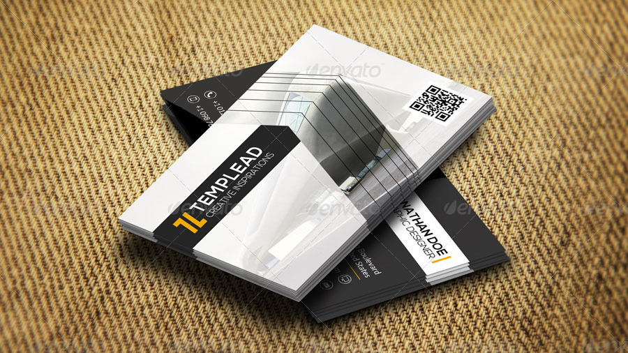 Construction Company Business Card AN0445 By Annozio