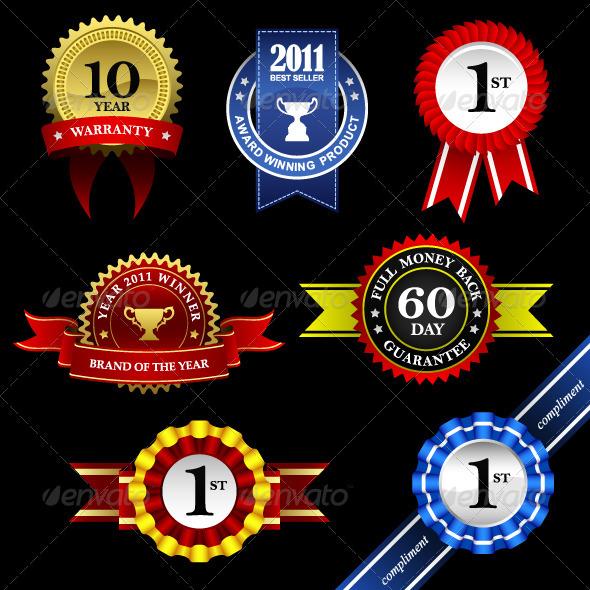 Seal Rosette Award Badge Tag   - Decorative Symbols Decorative