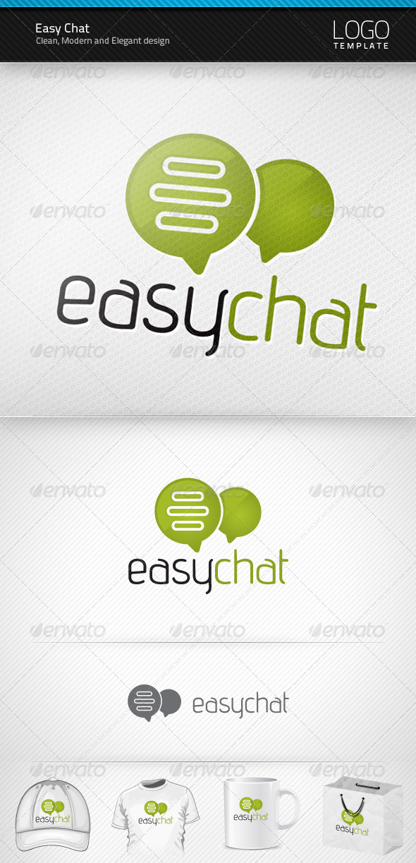 Easy Chat Logo - Symbols Logo Templates