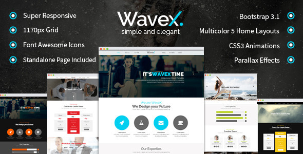 WaveX – One Page Parallax