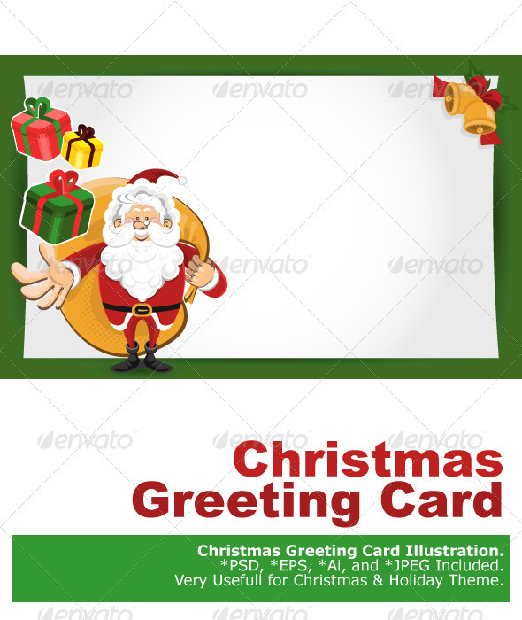 Santa Claus Christmas Greeting Card - Christmas Seasons/Holidays