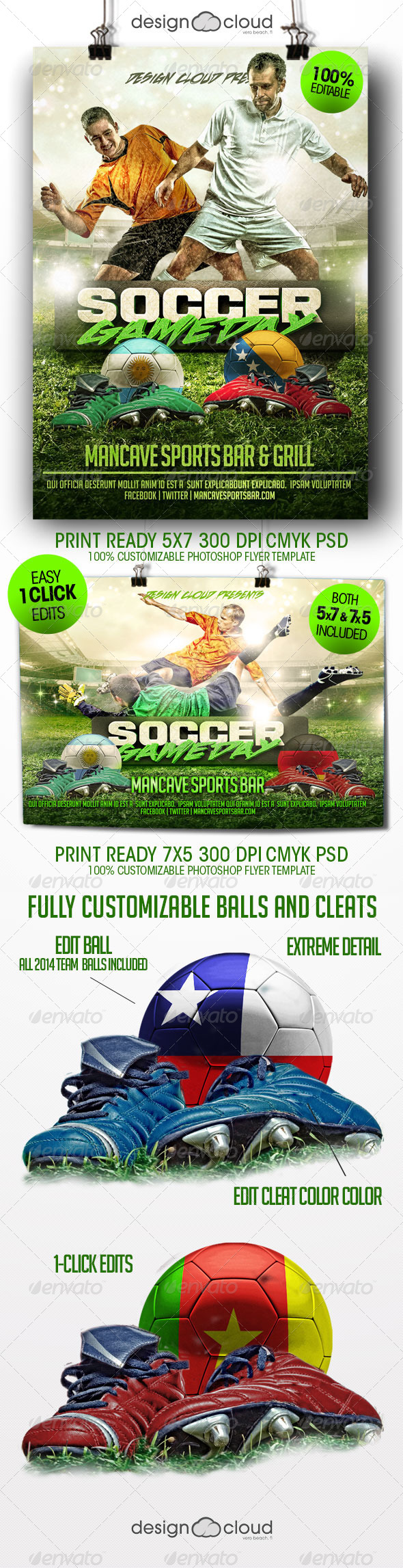 Soccer Game Day Flyer Template - Sports Events