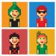 Pixel boys avatar - GraphicRiver Item for Sale