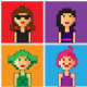 Pixel Girl Avatars - GraphicRiver Item for Sale