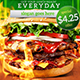 Grilled Burger Promotional Flyer - GraphicRiver Item for Sale