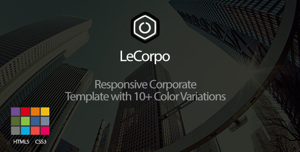 LeCorpo  - Onepage Business Template - Corporate Site Templates