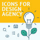 Flat Line Icons for Web Development - GraphicRiver Item for Sale