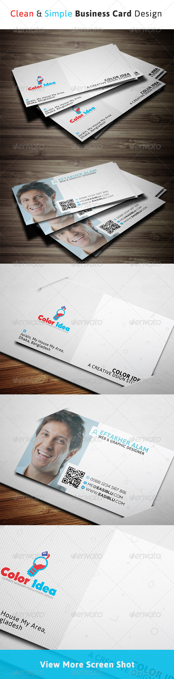 Clean & Simple Business Card  - Corporate Business Cards