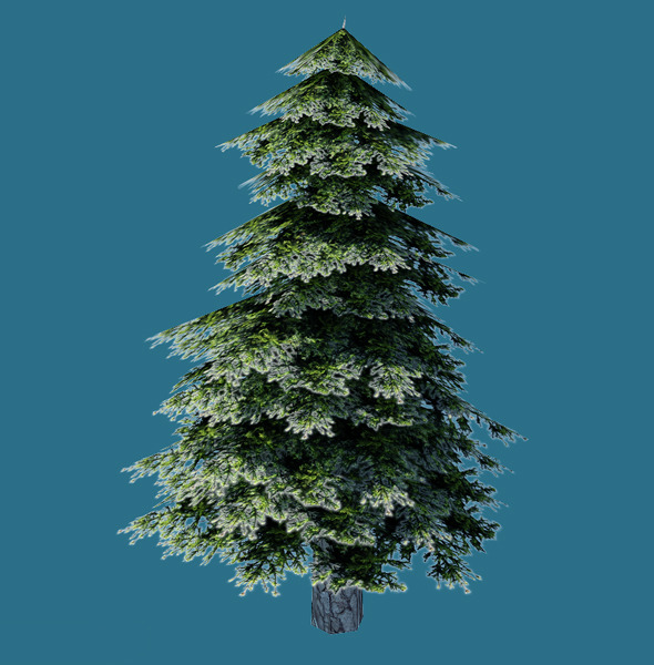 Low Poly Pine Tree Model - 3DOcean Item for Sale